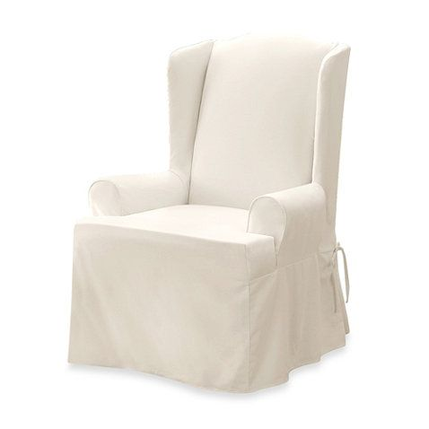 Sure Fit Twill Supreme Wing Chair Slipcover Slipcovers For Chairs Wingback Chair Slipcovers Slipcovers