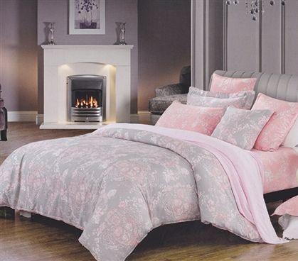 Overcast Pink Twin Xl Dorm Room Comforter Girls Dorm Bedding Dorm Bedding Dorm Room Comforters Dorm Room Bedding