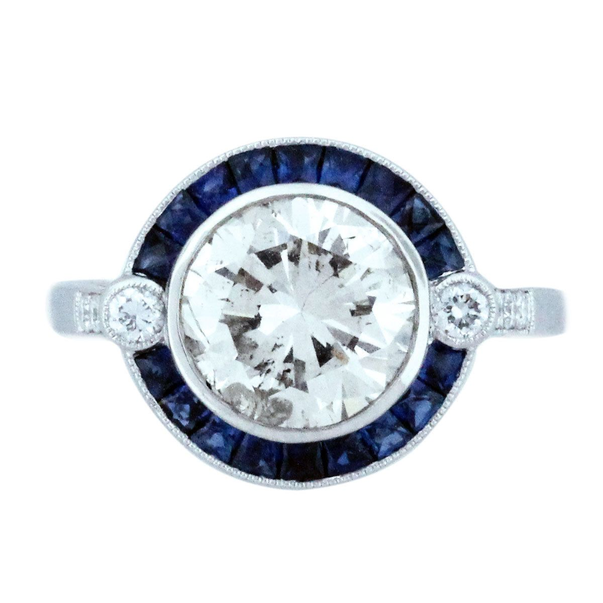 Sapphire Engagement Rings style diamond and sapphire