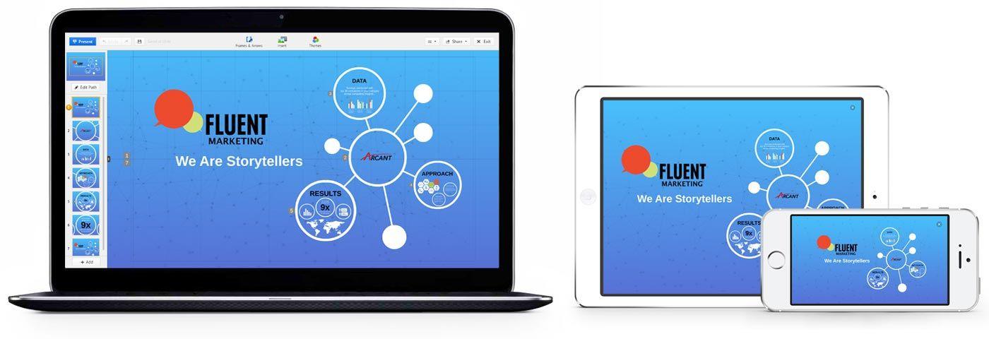 Prezi es una app que nos premite hacer presentaciones en la nube, por lo que se sincroniza con todos nuestros dispositivos. Es una app muy intuitiva y que nos permite realizar una presentaciones muy vistosas.