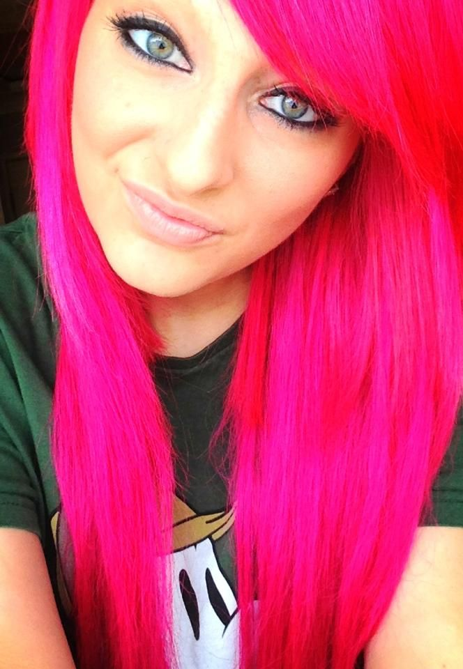 Pink Hair Green Eyes Pink Hair Hair Beauty Hair