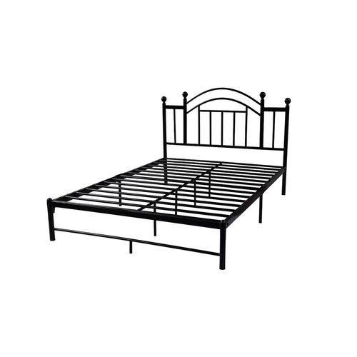 Queen Black Metal Platform Frame Vintage Post Style Arch Headboard Metal Platform Bed Platform Bed Frame Arched Headboard