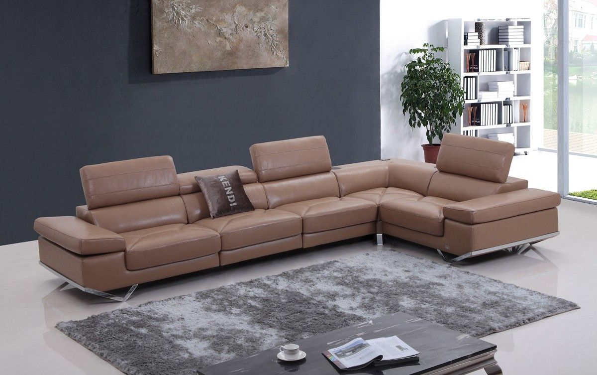 fine italian leather furniture. Italian Leather Sectional Sofa Furniture In Beige - $3200.25 -- Features: L Shape, Fine