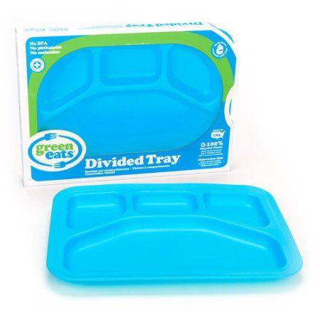 Green Eats Divided Tray, Blue