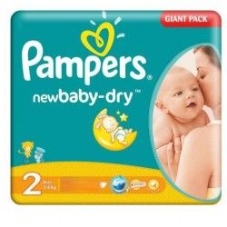 Mega Pack 80 Couches Pampers New Baby Dry Taille 2 Sur Les Looloos