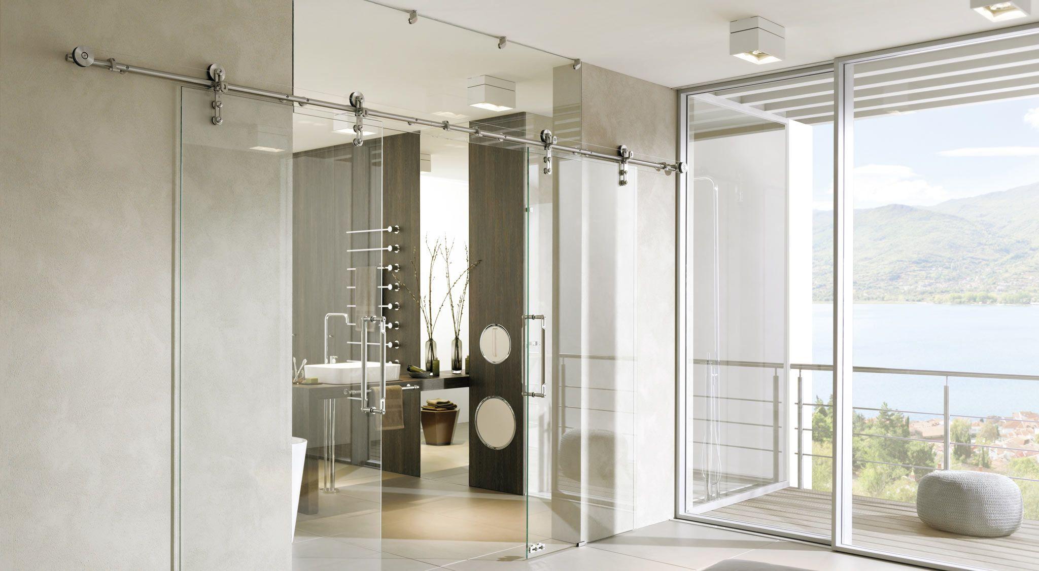 Türbeschläge aus Edelstahl für Tür und Duschsysteme mit