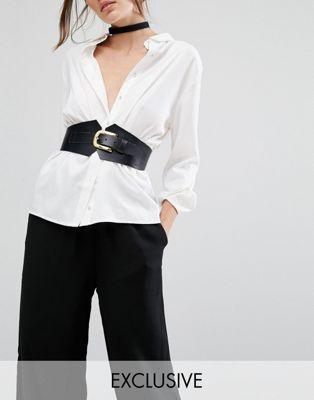 Discover Fashion Online Black Corset Belt, Black Belt, Real Leather Belt,  Leather Corset affd362d722
