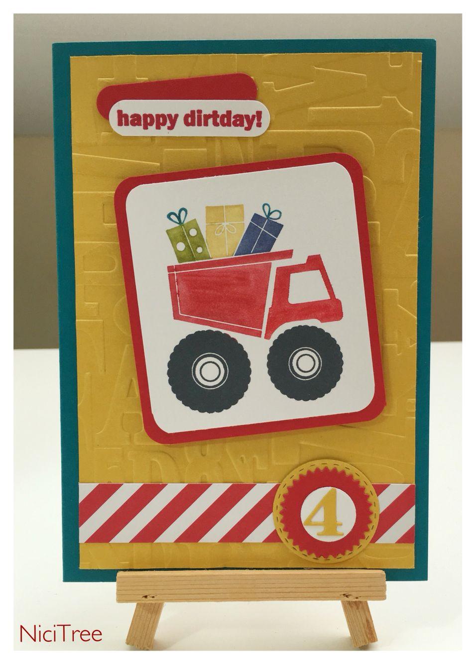 Stampin Up! I dig you, Birthday  Card, Geburtstagskarte, Embossing Folder Buchstabensalat