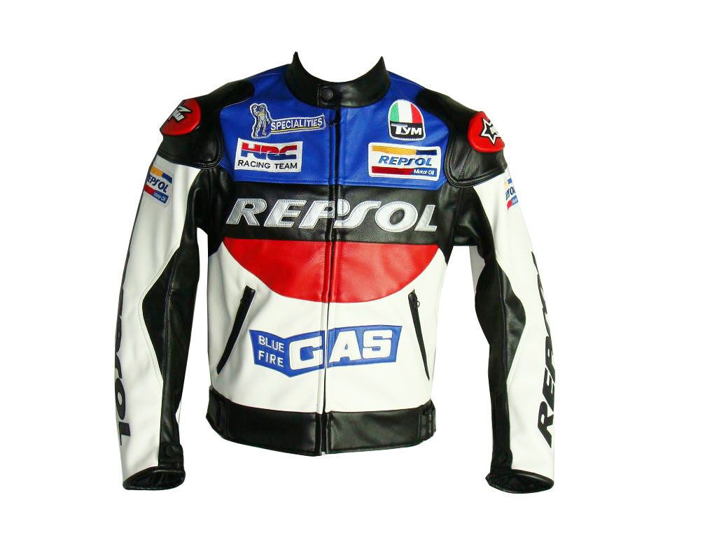 Multi Color Repsol Gas Honda Racing Motorcycle Leather Jacket New Vintage Lead Style Racing Suit Motorbike Jackets Motorcycle Jacket Mens