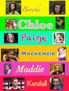 Pictures Of The Dance Moms Cast Then And Now Google Search Danca Show Camila