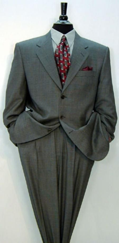 Luxrious High End UMO Collection premeier quality italian fabric Design Men's Umo 3-Button Super 150's Wool Solid $295