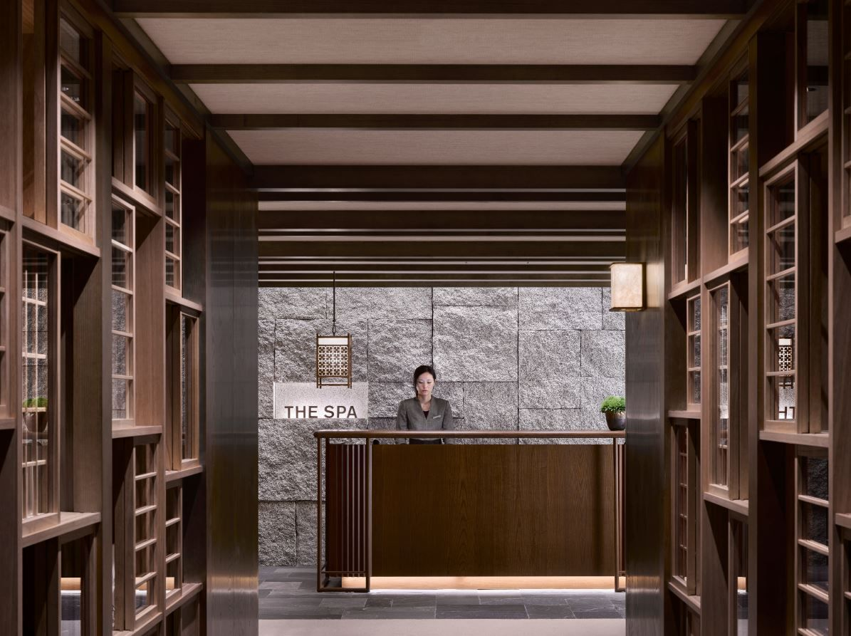 Spa reception at the four seasons kyoto by hba design for Design hotel kyoto