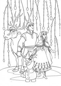 Frozen Coloring Page Ann Kristoff 214x300 FREE Printable Activity Pages Plus