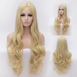 70CM Multi-Layered Blonde Long Wavy Centre Parting Charming Lolita Style  Women s Synthetic Party Wig 1562c44bc2