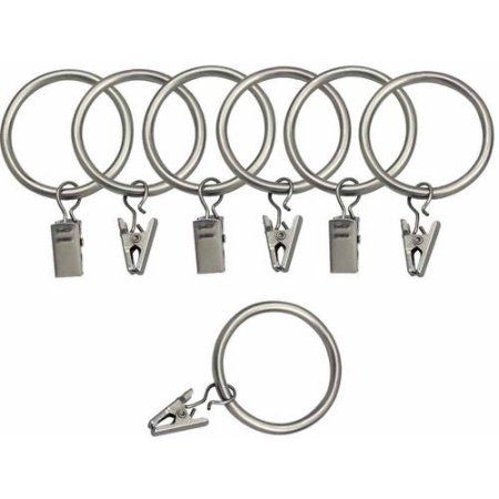 Bali 1 5 Inch Curtain Rings With Clips Available In Multiple