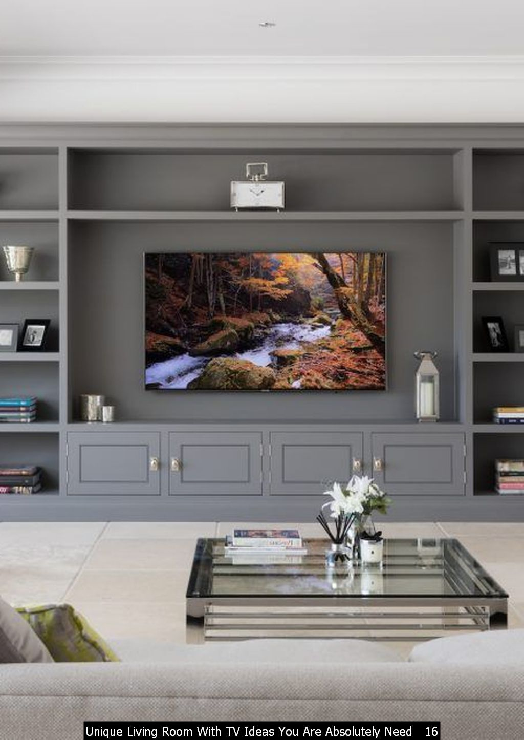 48 Unique Living Room With Tv Ideas You Are Absolutely Need Trenduhome Living Room Wall Units Tv Room Design Living Room Entertainment