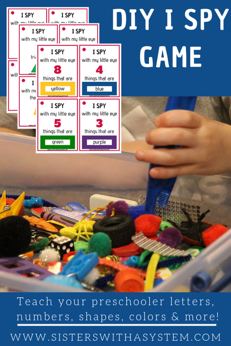 DIY I Spy Game for Preschoolers Preschool games, I spy