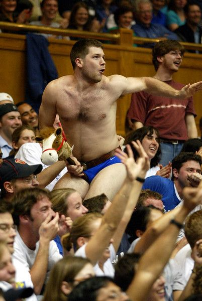 7d146f527fa Speedo Guy s antics lead to missed throws by opponents in Cameron. Seen  interviews with this guy. Divinity school graduate. This led to speedos  being banned ...