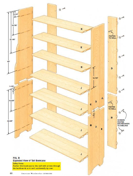 Two Part Bookcase Plans Woodwork City Free Woodworking Plans Bookcase Plans Woodworking Furniture Plans Woodworking Plans