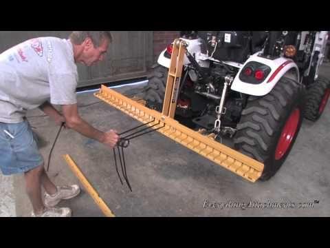 Pine Needle Rakes Pine Straw Rakes Prepare Pine Needles For Baling With The Everything Attachments Pine Needle Rake 72 Length Tractor Attachments Compact Tractor Attachments Tractor Implements