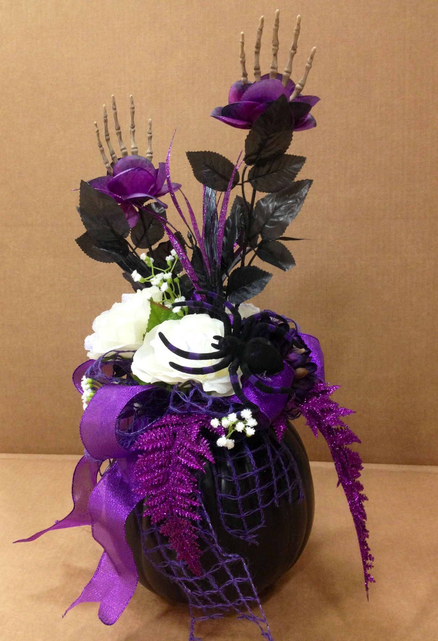 Floral Decor: Halloween Pumpkin- Made By Parisa @ Michaels-Encino
