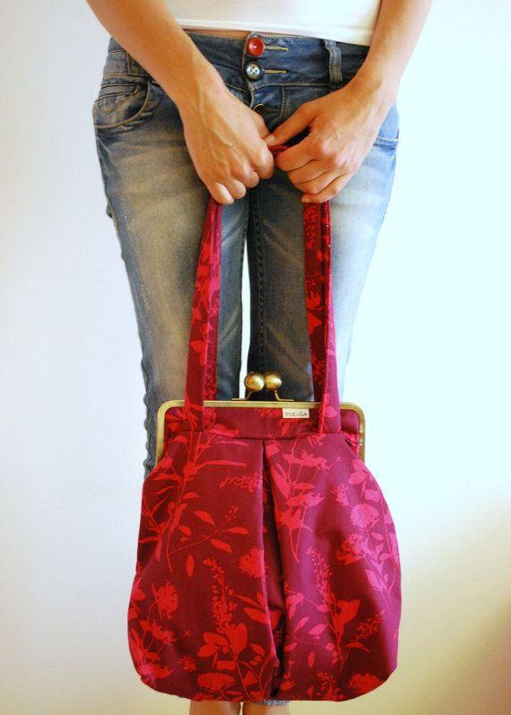 KISS LOCK LARGE bag snap clasp purse metal frame by PikulaBags, $85.00