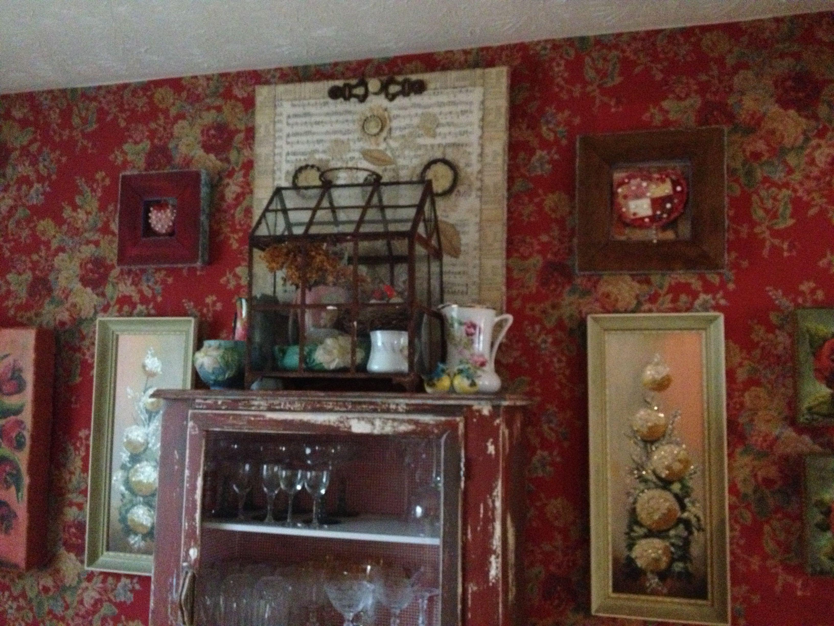 Dining room love my Ralph Lauren paper | Home decor, Room ...