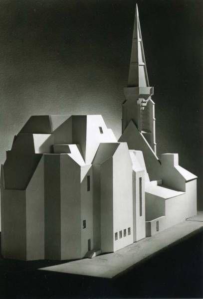 Gottfried Böhm, Saarlouis, Catholic Church, St. Louis, 1965 70,