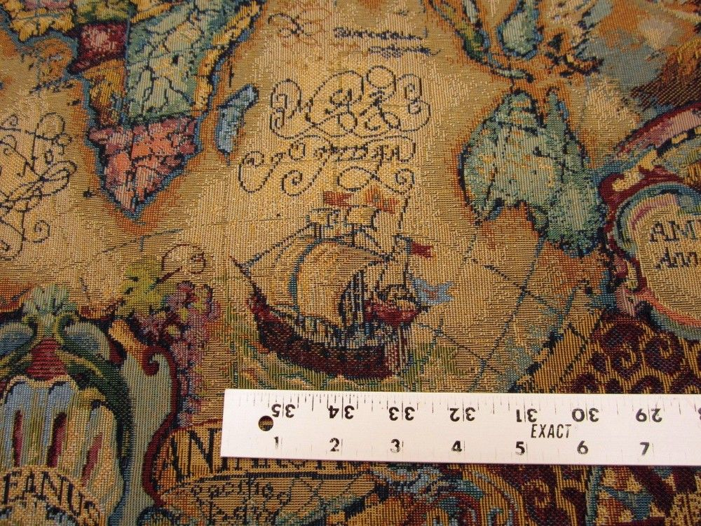 Magellan old world map tapestry uph fabric multi fabrics for magellan old world map tapestry uph fabric multi fabrics for medieval chairs pinterest gumiabroncs Gallery