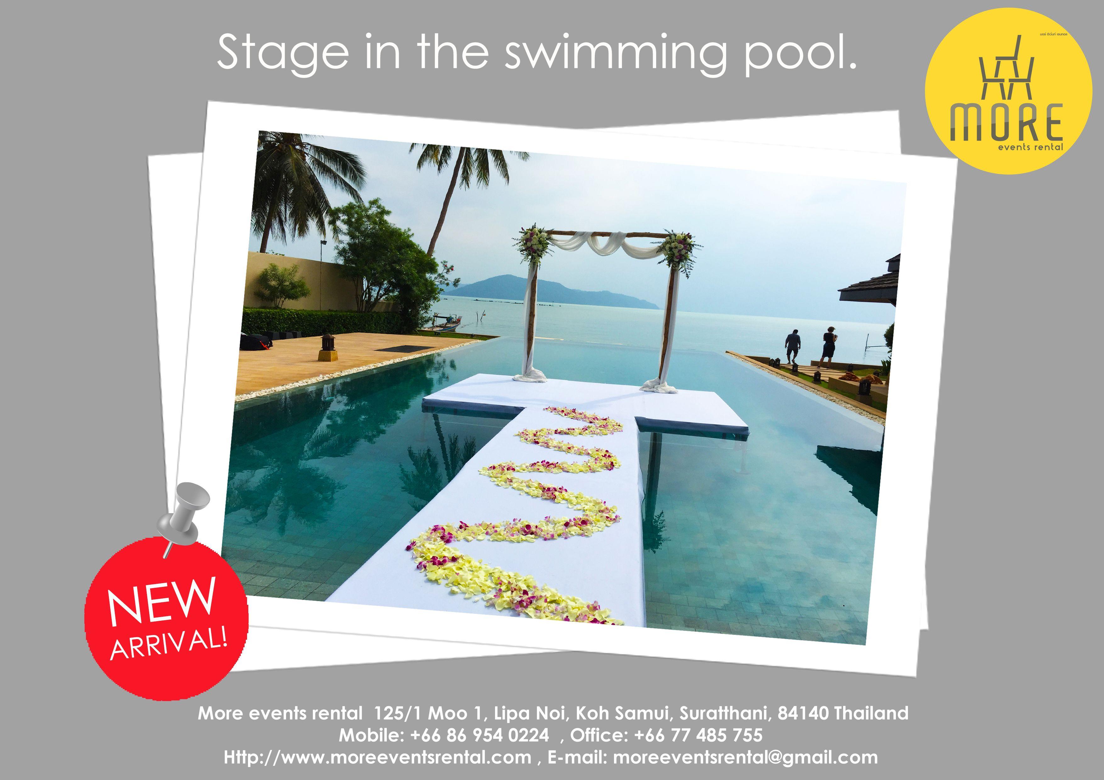 Stage On Swimming Pool Swimming Pools Event Rental Koh Samui
