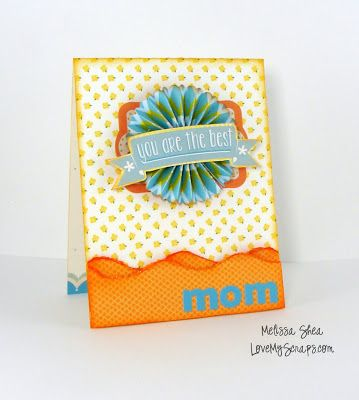 It's a card, it's a gift, it's a magnet!  Lawn Fawn - Daphne's Closet 6x6 paper, Daphne's Closet element stickers, Turquoise Feather Narrators, Pink Lemonade 6x6 paper, Hello Friend _ Love My Scraps: Mothers Day Magnet Card