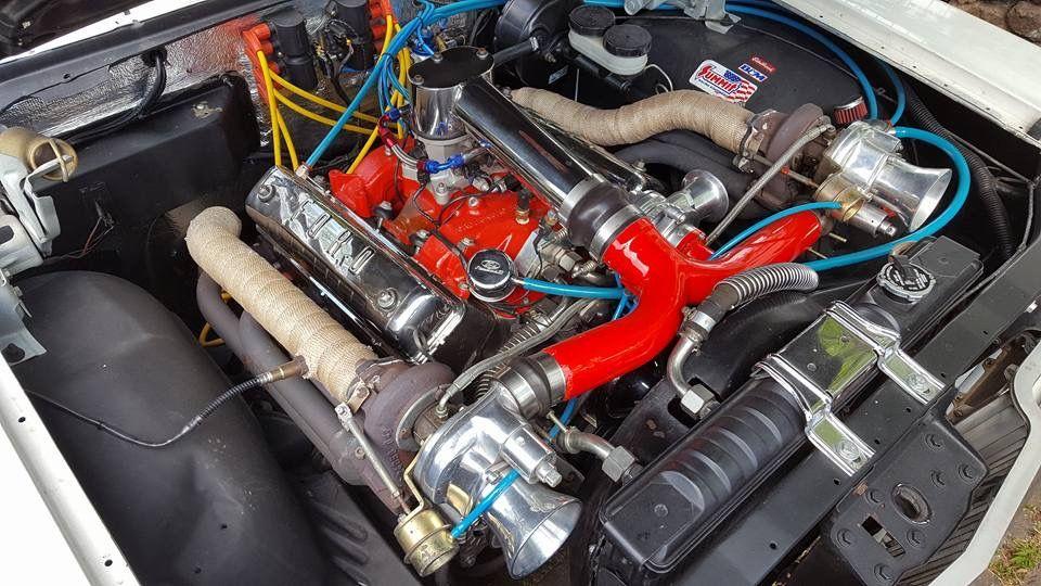 Turbo Y Block Twin Turbo Engineering Rat Rod