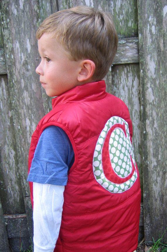 0fc861369350 Baby Boy s Monogram Children s Puffer Vest by ThePinkDachshund ...