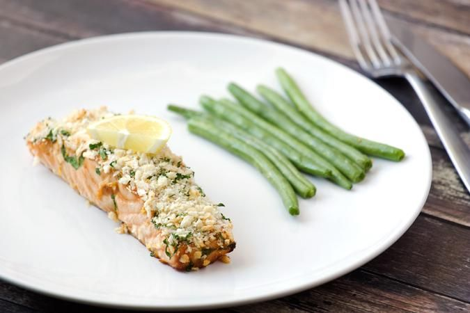 Panko-Crusted Honey Mustard Salmon Recipe. Salmon has never looked better! Jazz up your dinner menu with this deliciously flavorful Panko-Crusted Honey Musta...