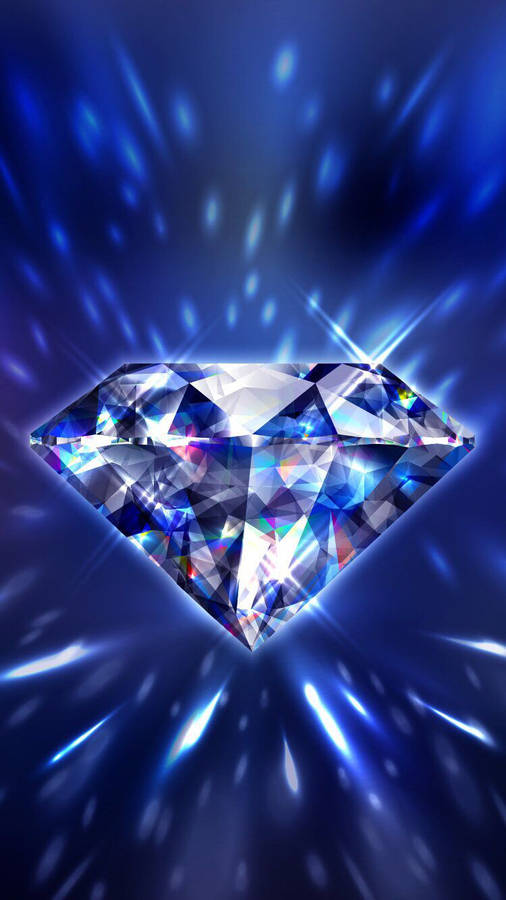 Download Diamond Luxury. Tło Niebieskie / Blue Background Wallpaper |  Wallpapers.com In 2021 | Diamond Wallpaper Iphone, Diamond Wallpaper, Blue  Diamond Su