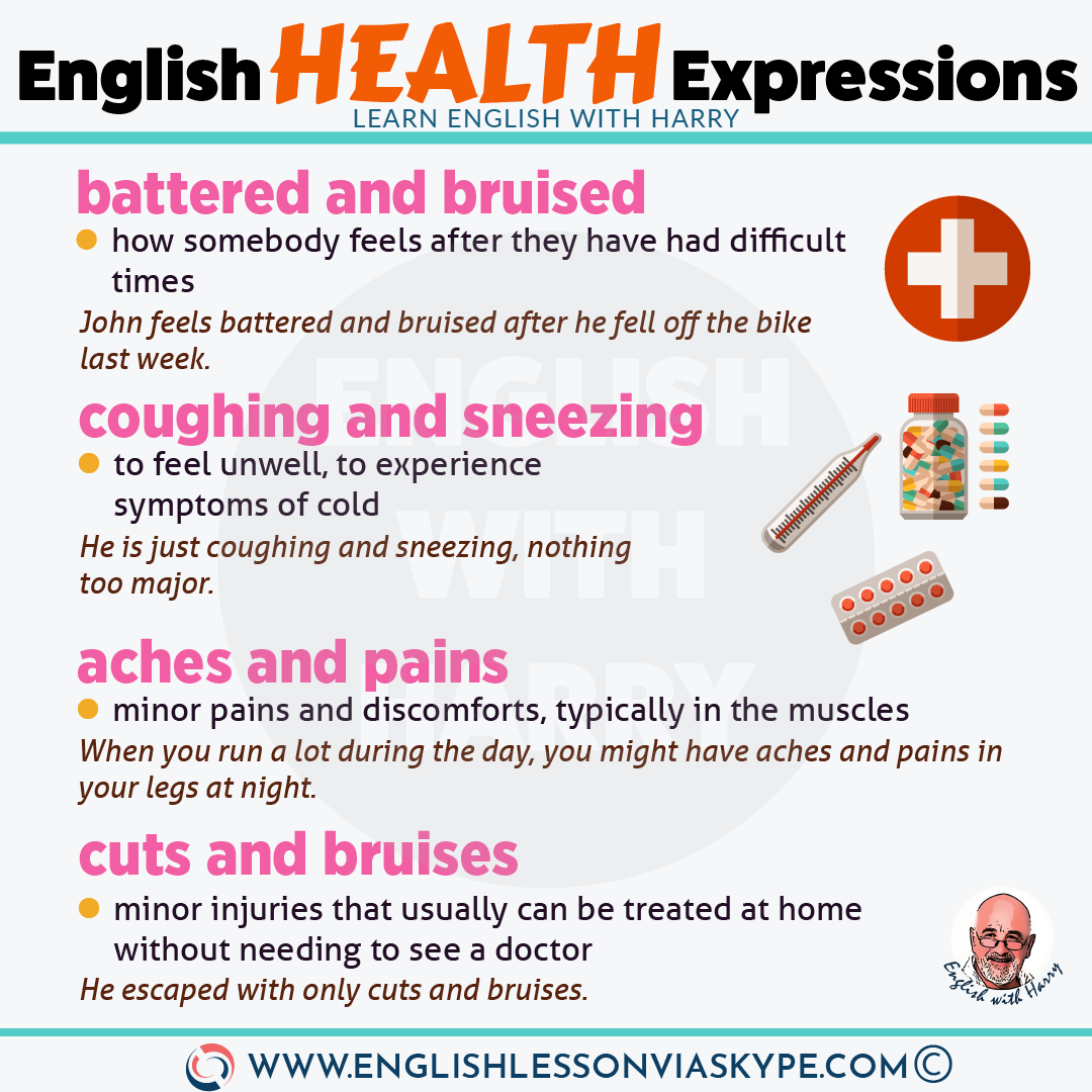 Fixed English Expressions About Health Learn English