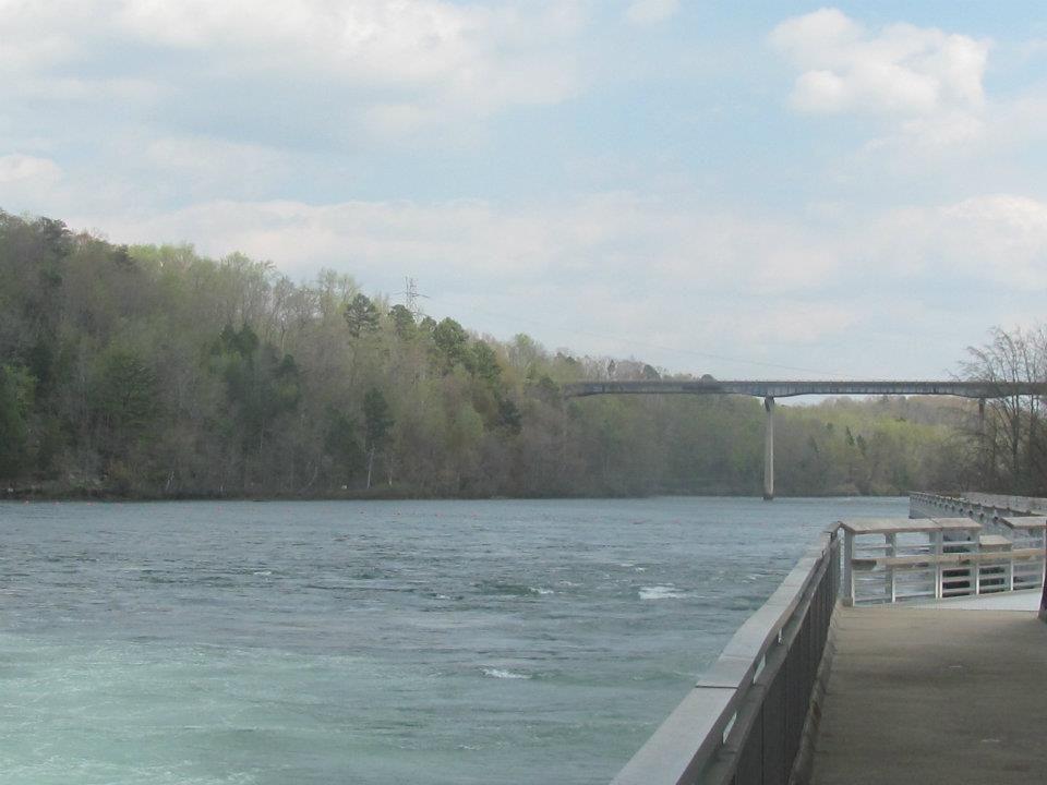 Savannah river from the new pier below hartwell dam