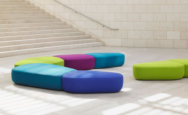 This Collection Resembles Misshapen Jellybeans That Can Be Melded Together  To Create Colourful, Plush Benches. This Innovative Line Of Modular Seating  Feels ...