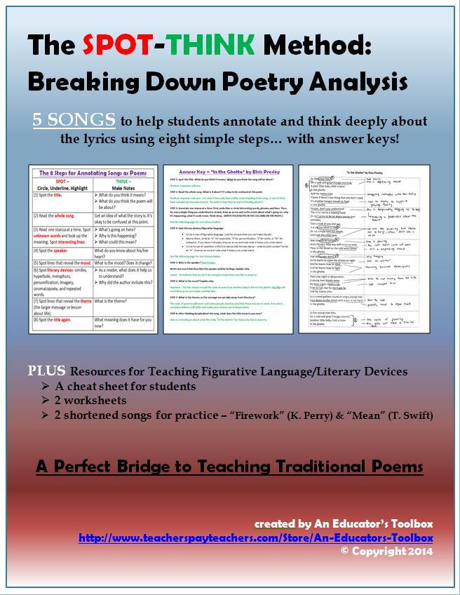 Poetry Analysis Worksheet Answer Key - Worksheet List