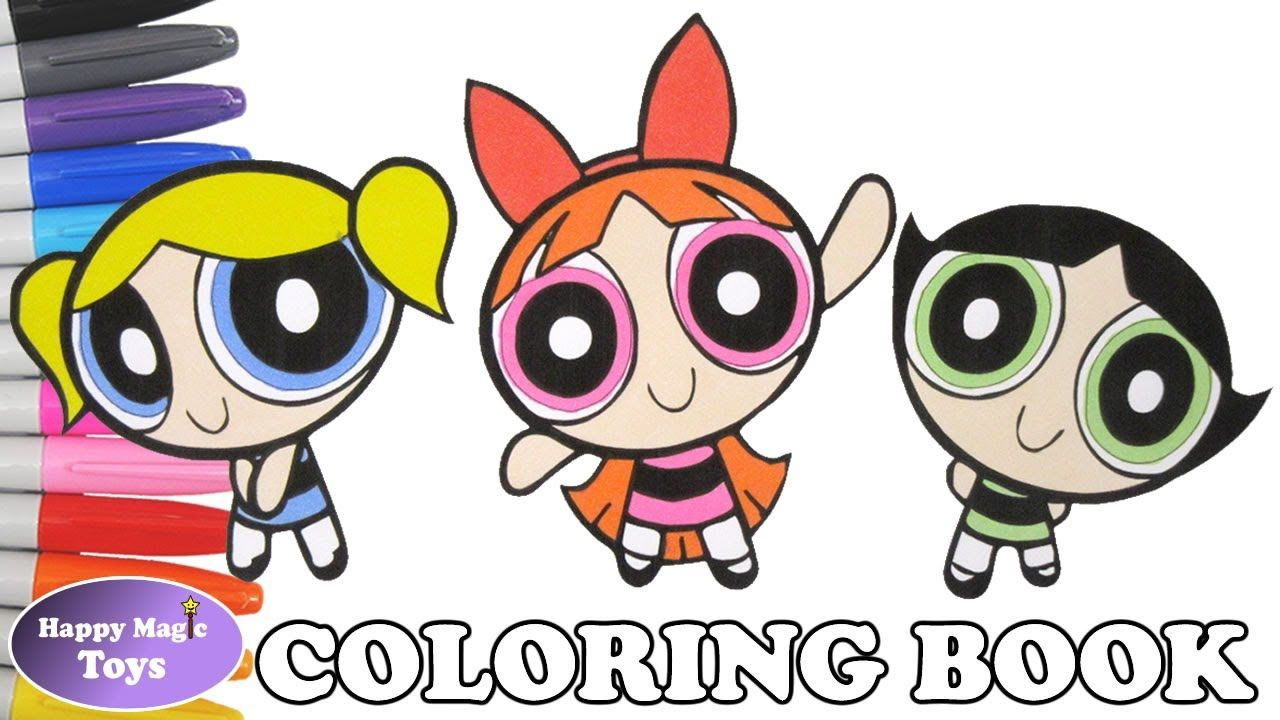 The Powerpuff Girls Coloring Episode 24 – Buttercup, Blossom and ...