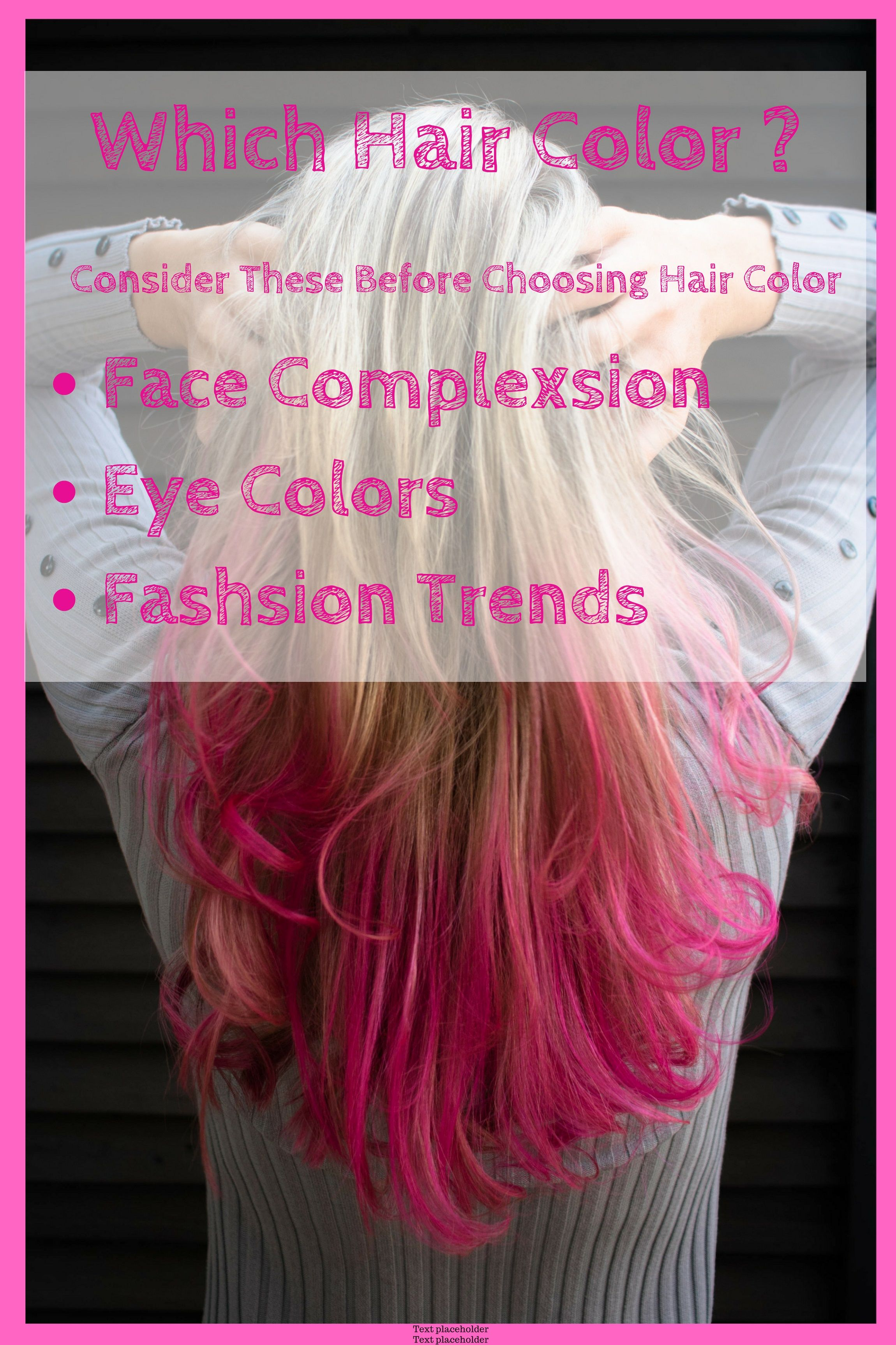 What Hair Color Looks Best On Me Which Hair Colour Hair Color