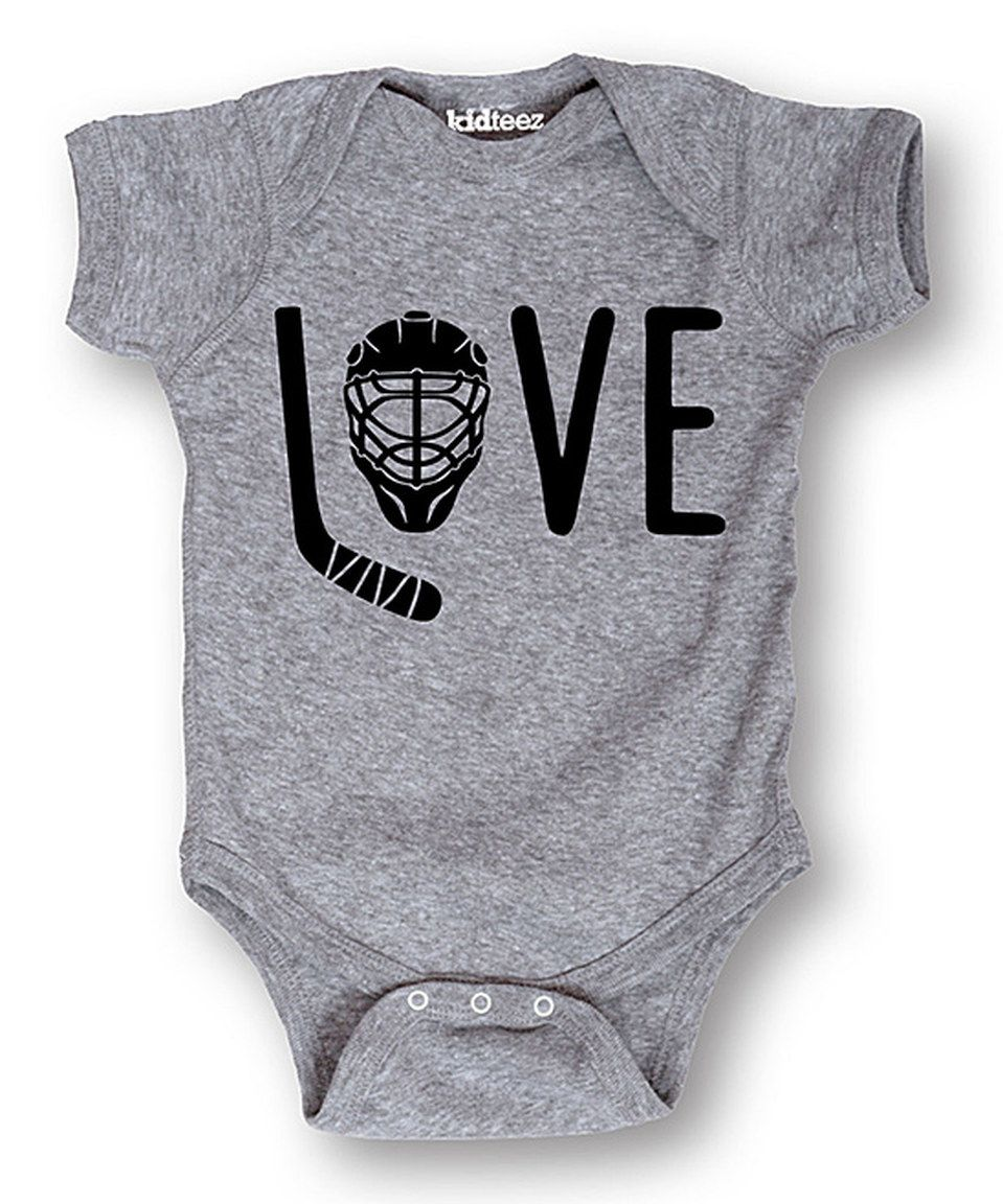 Another great find on zulily! 'Love' Hockey Bodysuit