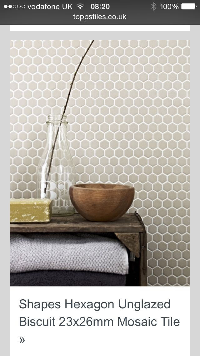 Ed and I love the Honeycomb. It's pretty in this grey, or other light colors for the shower.