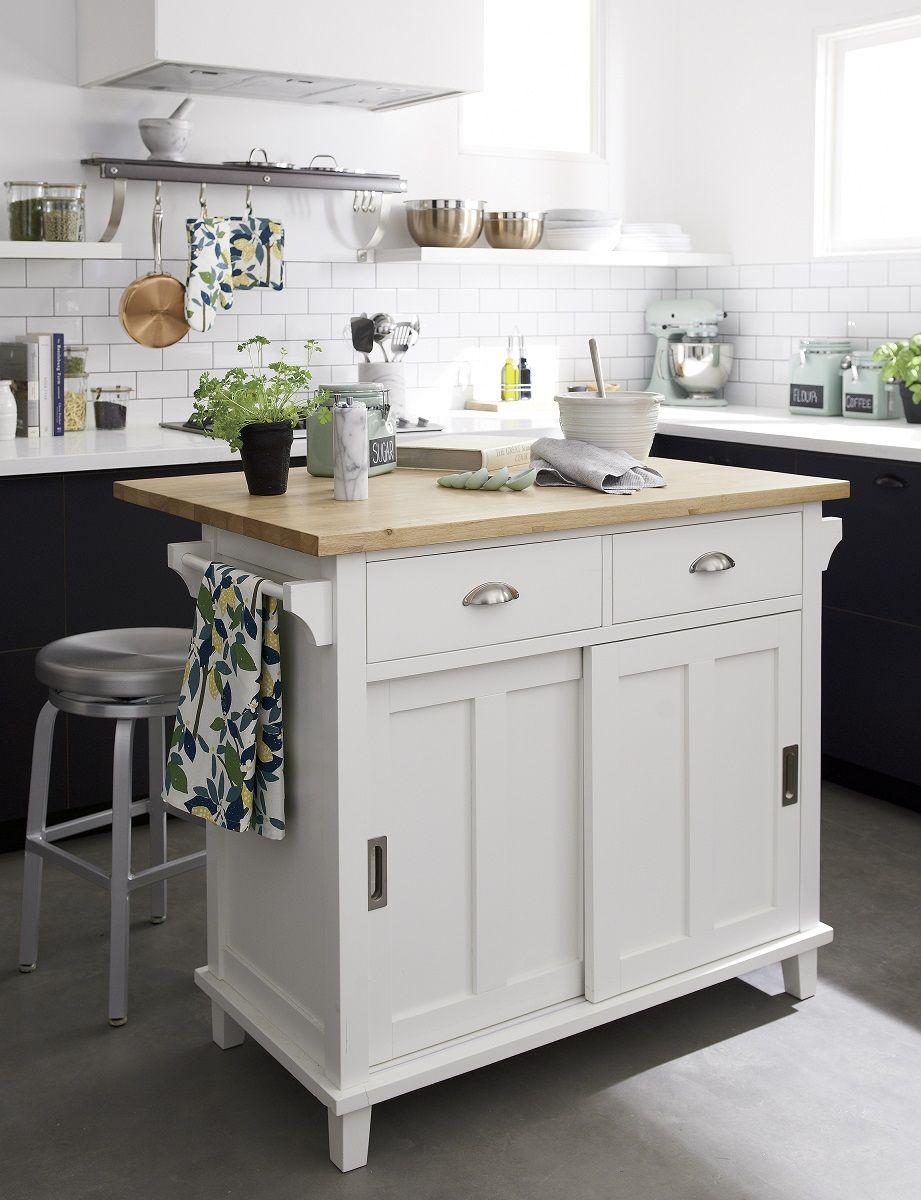 Crate Barrel Kitchen In 2019 White Kitchen Island Kitchen