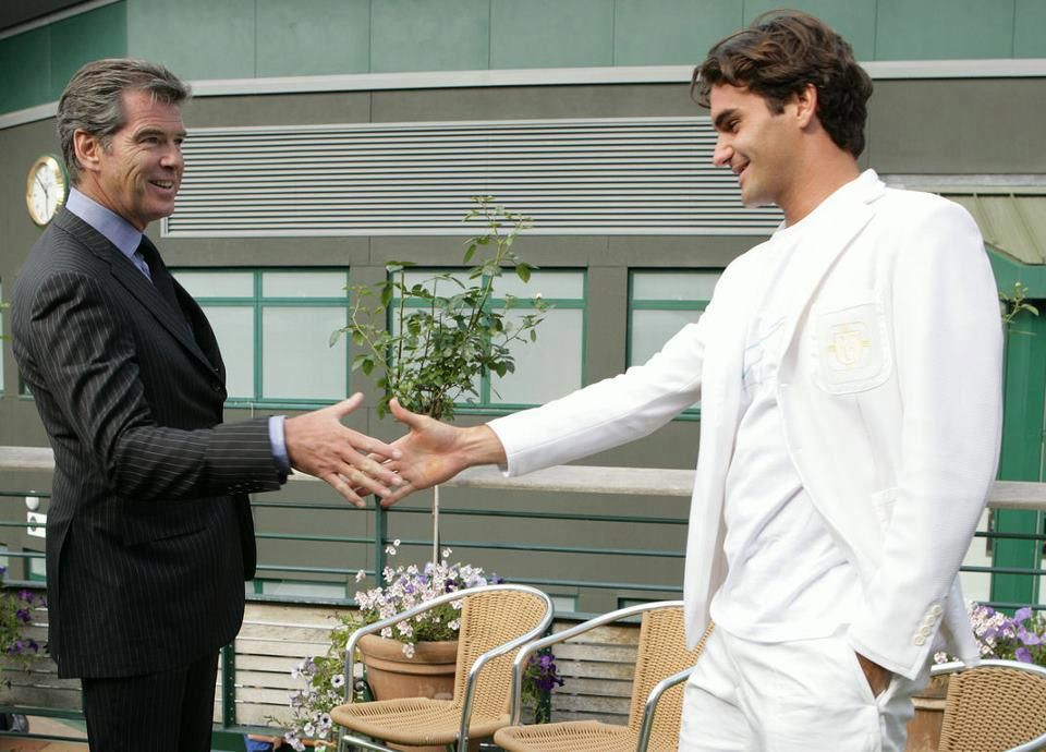 The Maestro Meets James Bond: Roger Federer With Pierce