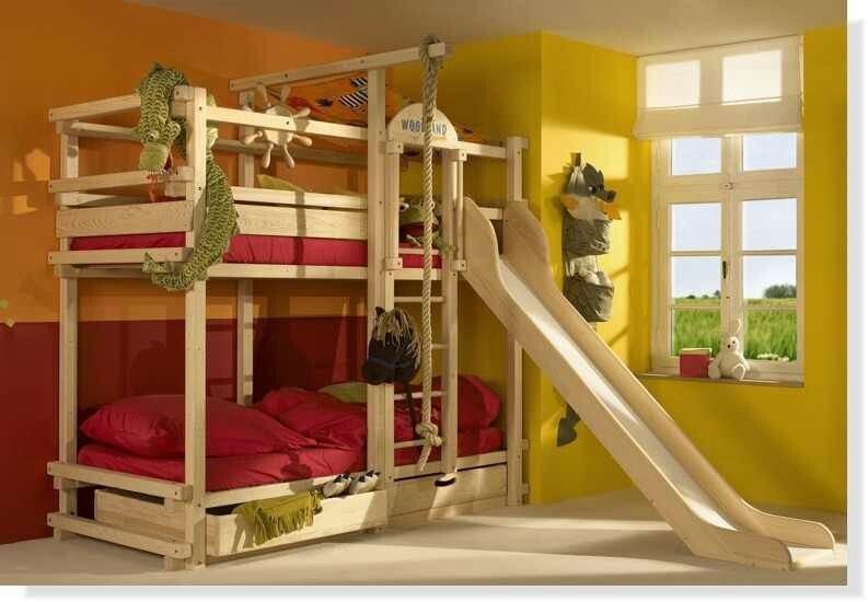 Unicorn Bunk Bed With Slide And Swing Novocom Top