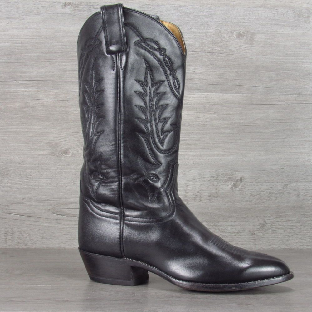Tony Lama Black All Leather Cowboy Boots 9.5 EE | Cowboys, Cowboy ...