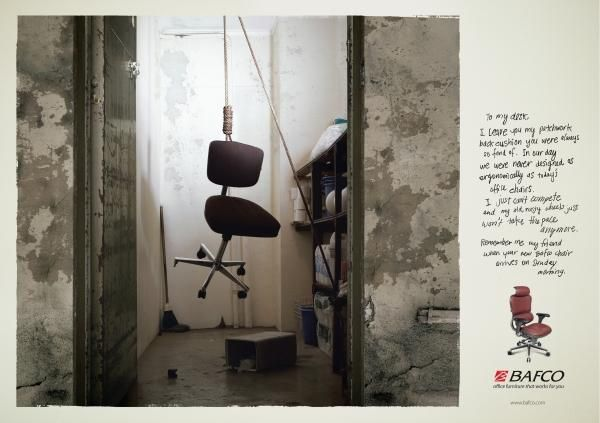 HANGING, Office Furniture, Tonic Communications, Bafco Office Furniture, Print, Outdoor, Ads