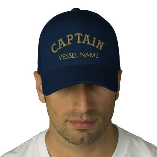 05dd4681eba3b Personalised Boat Name Captain Hat Embroidered Hats