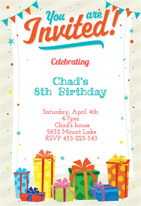 Birthday Invitation Templates Birthday Invitation Templates Word - Birthday invitation card format word